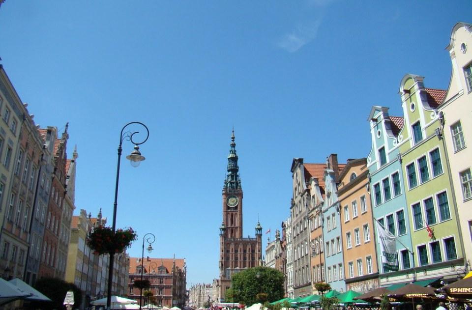Mercado Largo edificio Ayuntamiento de Gdansk Polonia 40