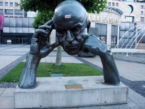 The thinker statue in Stuttgart