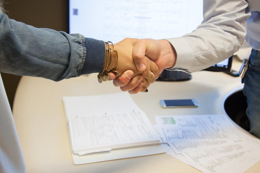 handshake sealing the deal