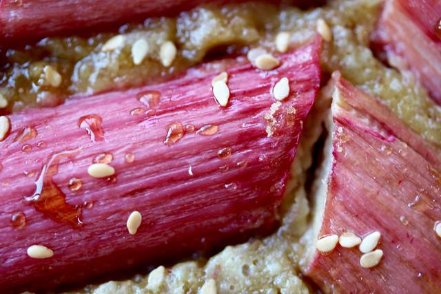 Rye Rhubarb Tahini Tart - 44
