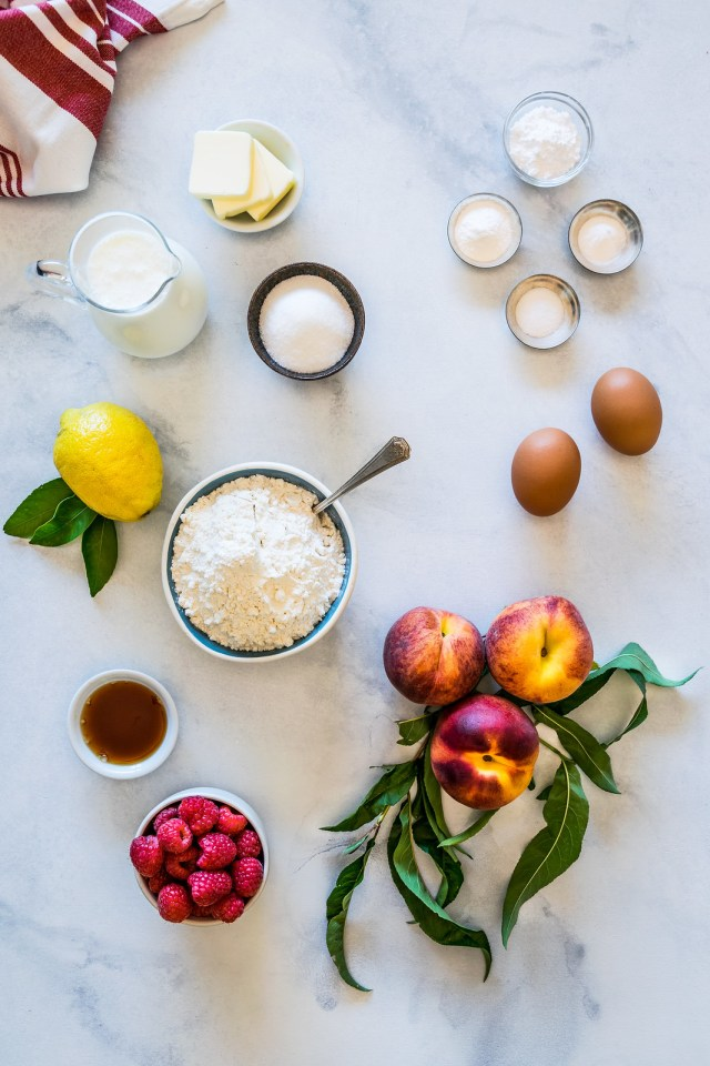peach pancakes, coming right up!