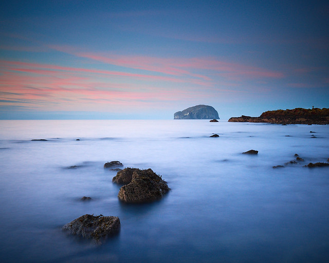 Bass Rock from Seacliff Beach III, East Lothian