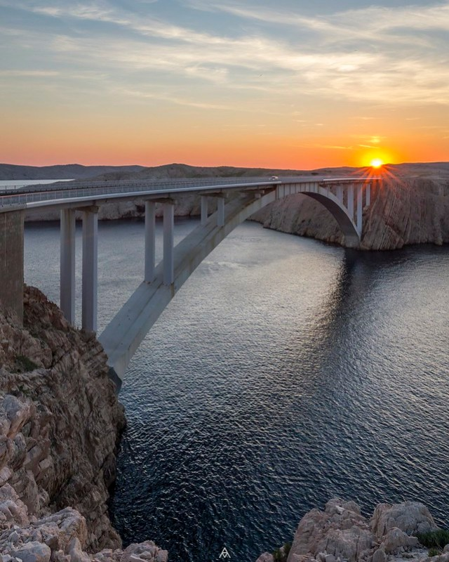 Sunset at Pag Bridge