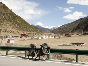 The last of the valley before the climb up to 5000m - I stopped shortly after this small town.