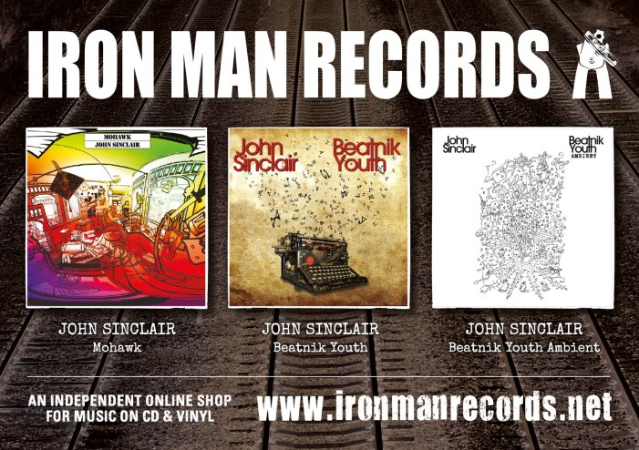 Iron Man Records Discography Advertisement A5 Landscape without marks