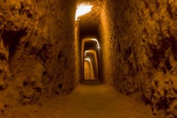 Toen we eindelijk op weg gingen naar Teheran stopten we nog even in Nushabad om deze ondergrondse stad te bezichtigen.