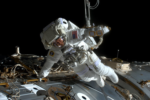 Jack during his spacewalk