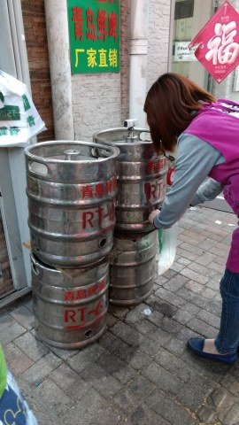 Raw beer on the streets