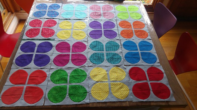 Layout ok? Retro flowers/ curves quilt