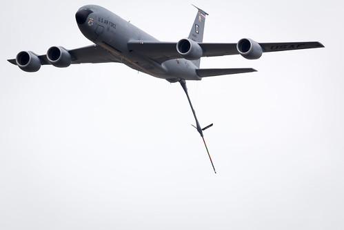 Boeing 707 KC-135 Stratotanker flypast at Fairford International Air Tattoo 2017