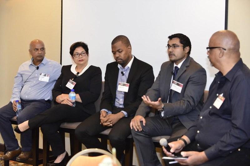 TTIGF 2017 expert panellist (left to right)- Prof. Patrick Hosein, Dr. Kim Mallalieu, Kurleigh Prescod, Kirk Sookram and moderator, Mark Lynderday