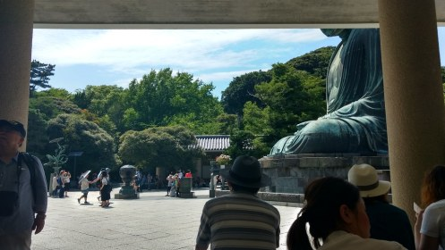 Largest outdoor bronze Buddha in Japan