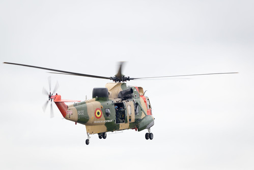 Belgian Coast Guard Sikorsky SH-3 Sea King at Fairford International Air Tattoo 2017