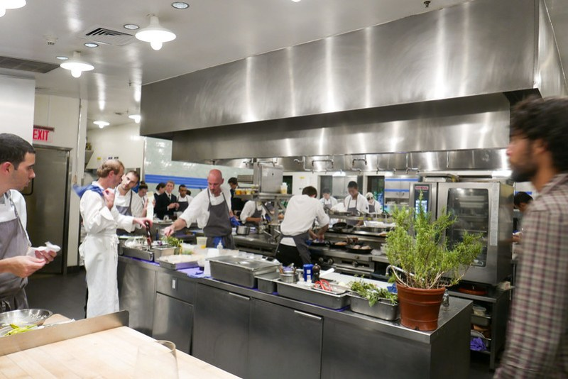 Kitchen course at Blue Hill at Stone Barns