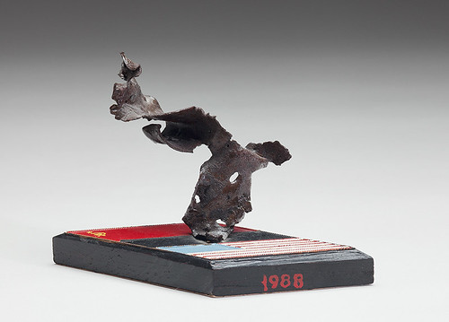 Sculpture Made of Destroyed Soviet Missile Shrapnel