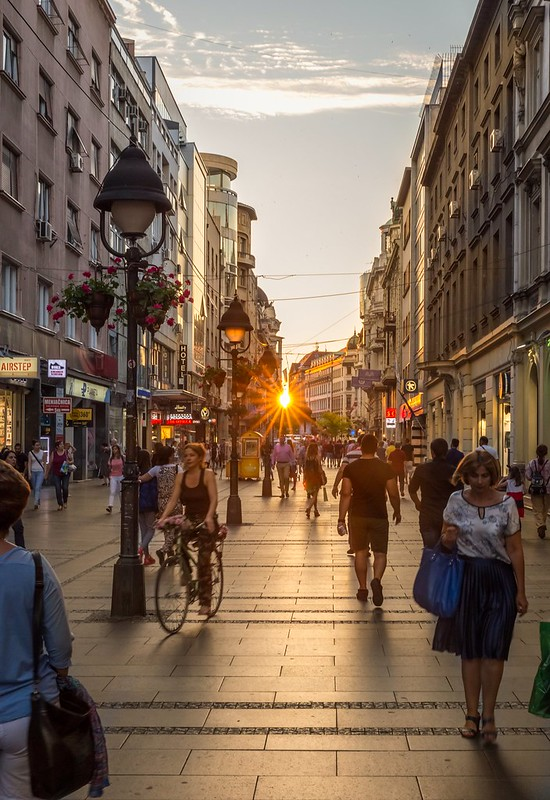 Sunny Knez Mihailova Street