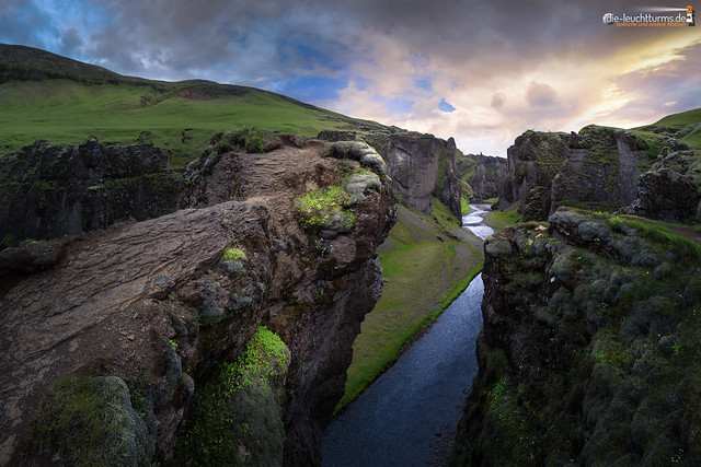 The canyon of river Fjaðrá