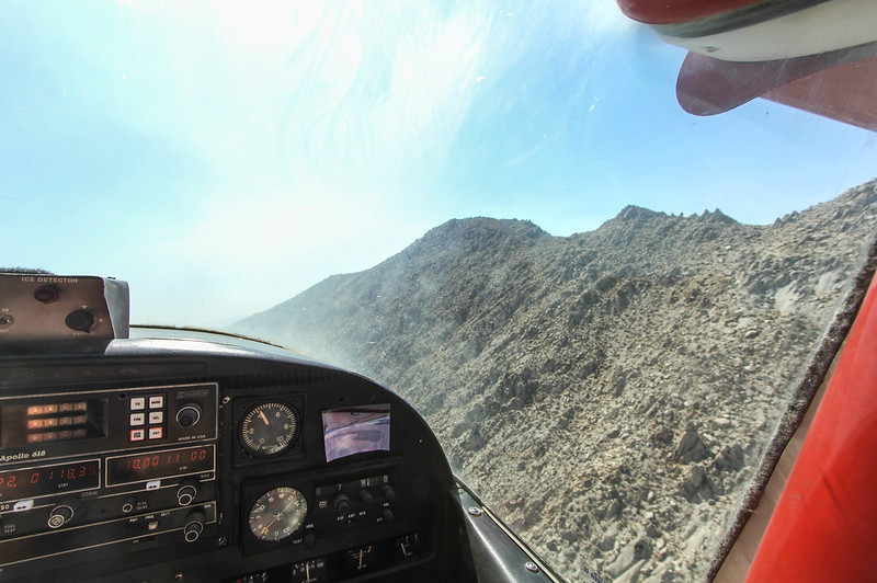 Flying over the Black Rock mountain with Purple Haze