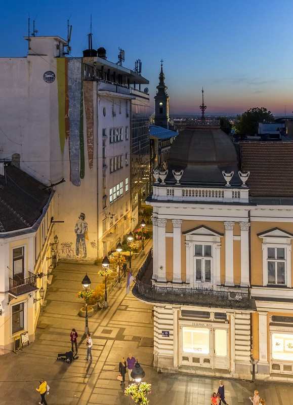 Evening in Knez Mihailova Street