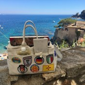 Brenda Swenson bag at the watercolor painting workshop Spain