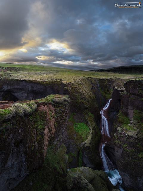 The fall of Fjaðrás
