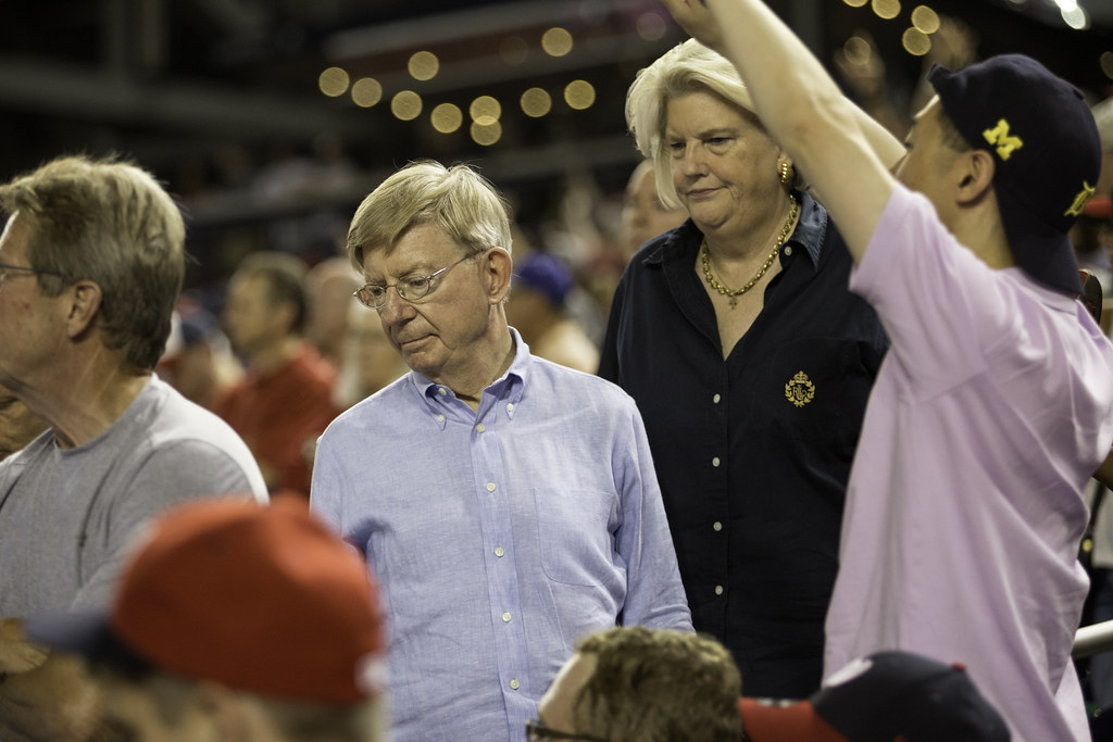 George Will And Mari Maseng Will At Nationals Park Flickr