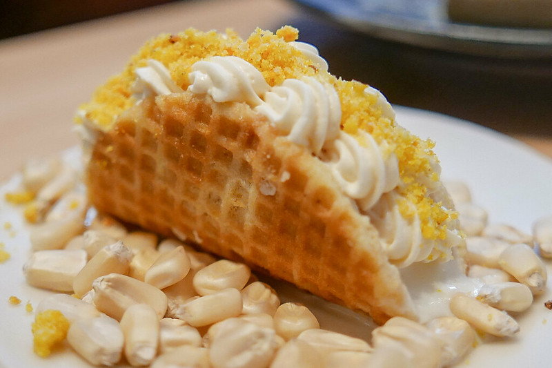 Corn Ice Cream Taco ($6)