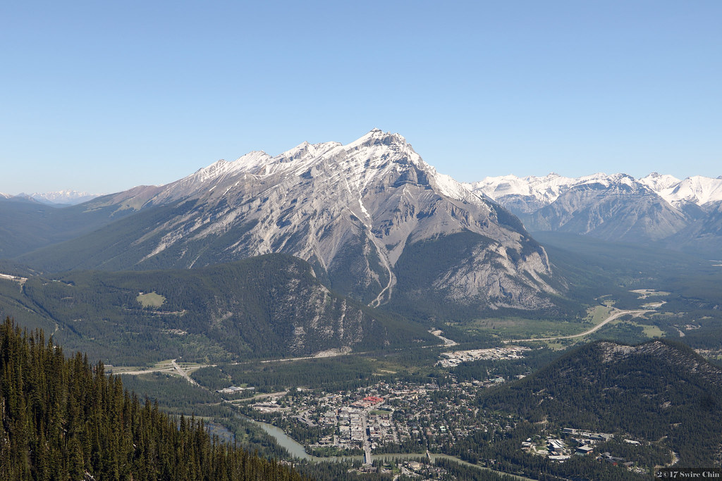 cascade trail is a true backcountry adventure as it takes you well away from civilization. Banff Town Centre And Cascade Mountain As You Can See Ban Flickr