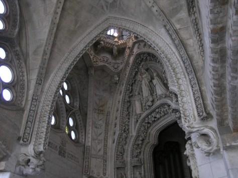 Barcelona Sagrada Familia inside detail