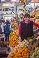 Saleswoman on el mercado