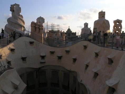 Barcelona Casa Milà roof