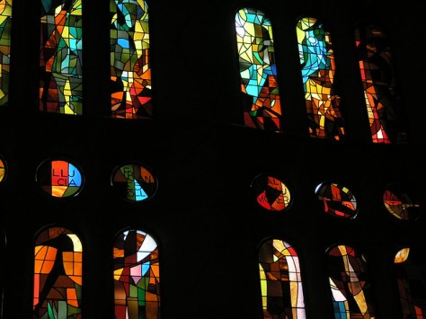 Barcelona Sagrada Familia stained glass