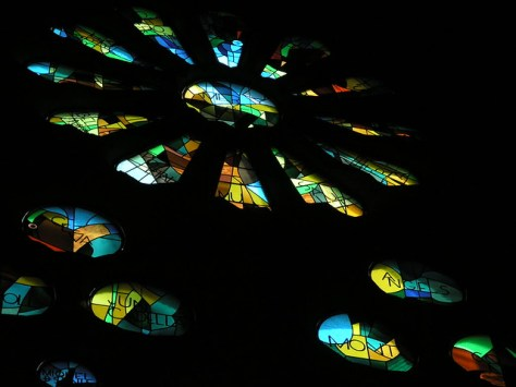 Barcelona Sagrada Familia stained glass2