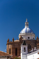 The new cathedral of Cuenca, Ecuador