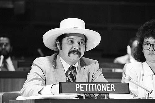 Ron Rivera at United Nations 1988