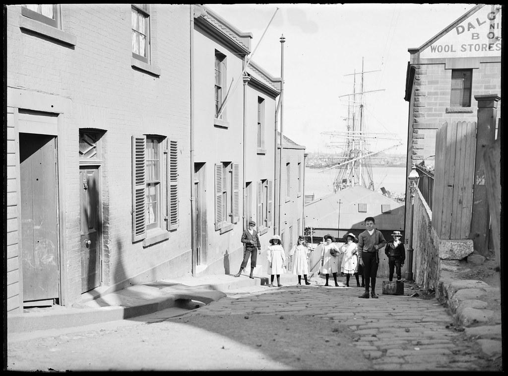 Glass negatives of The Rocks, Sydney, ca. 1890-1910, by William Joseph Macpherson