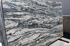 Black Spectrus Polished Granite slabs for countertop