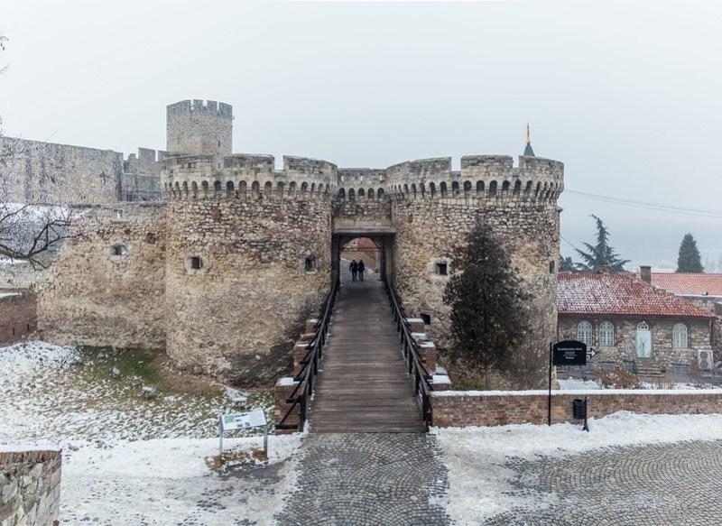 Snowy Belgrade Fortress