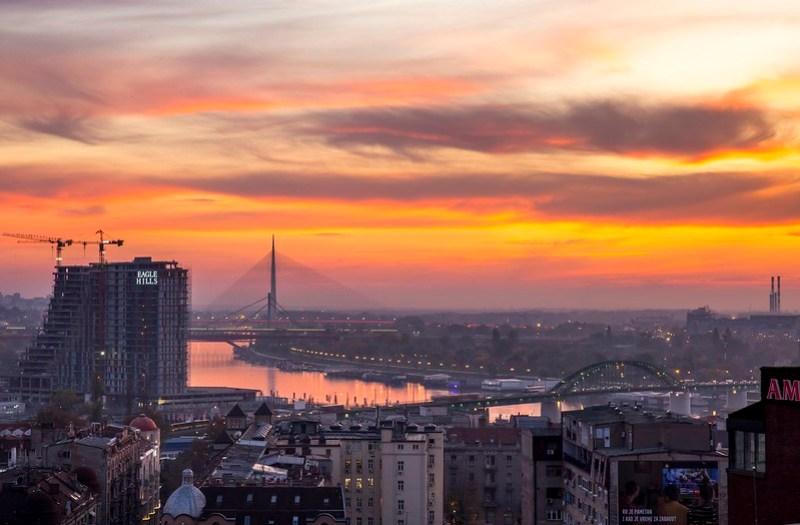 Lovely Sky Above Belgrade