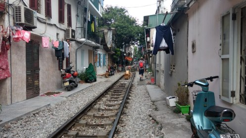 The train line street