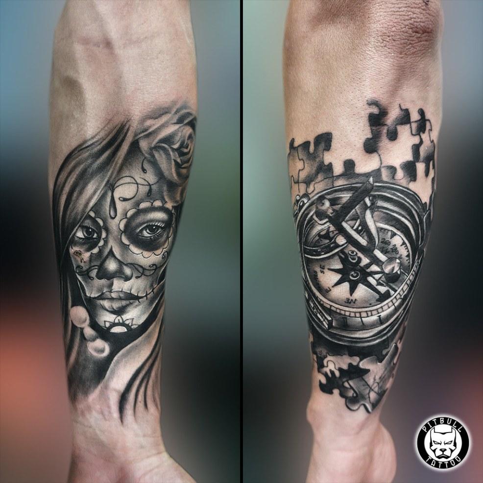 Chicano Compass Tattoo Tattoopitbullgroupthailandcom Flickr