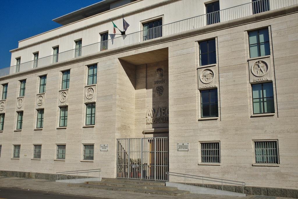 Facade of the Museo Nazionale della Magna Grecia