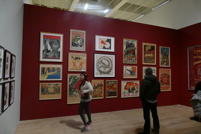 Various Soviet Propaganda Posters, 'Red Star Over Russia', Tate Modern