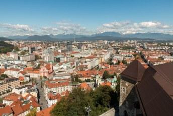 Na nog een pittige klim via de wenteltrap in de toren kun je dan eindelijk genieten van het uitzicht.