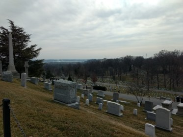 Military cemetery overlooking the Pentagon