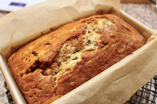 Choc Chip Cheesecake Banana Bread - 13