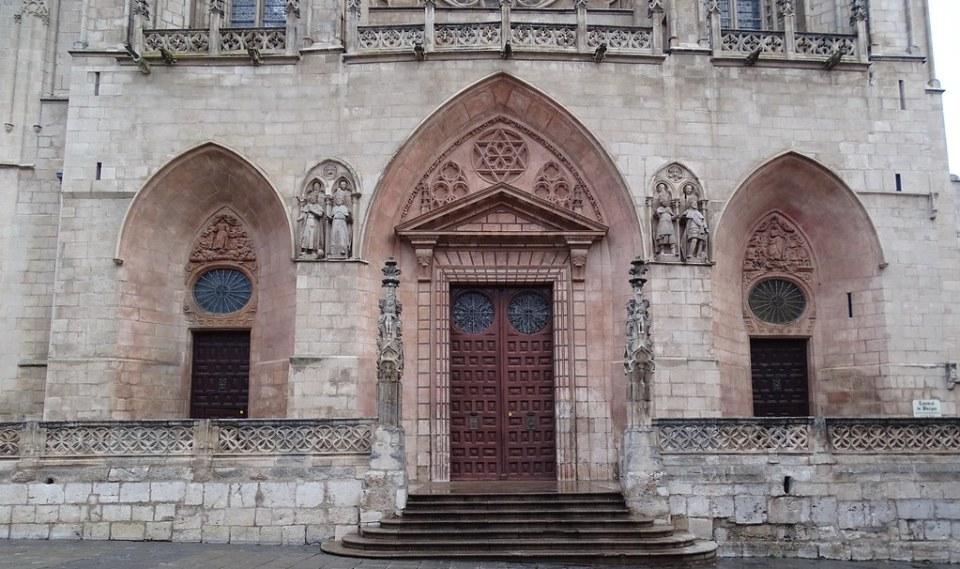 Fachada oeste portada de Santa Maria fachada exterior Catedral de Burgos 07