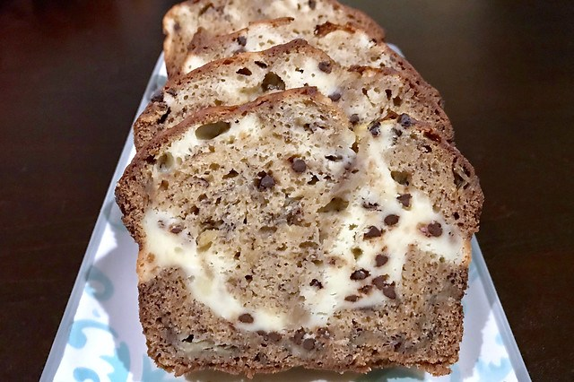 Choc Chip Cheesecake Banana Bread - 23