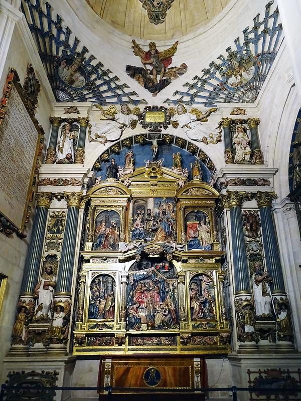 Catedral de Burgos Capilla de la Natividad de Nuestra Señora Retablo mayor de Martín de la Haya y Domingo de Bérriz