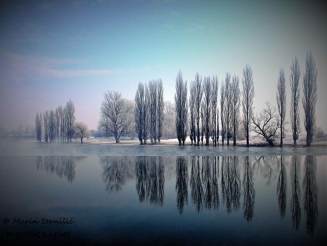 Karlovac, Croatia - From the past - winter vignette 2010.